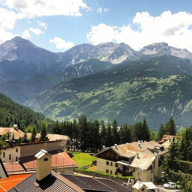 View from top floor of Stella Alpina #sauzedoulx