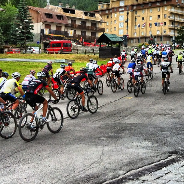 The start of the 62 km #sauze  Mountain Classic,500 competitors..