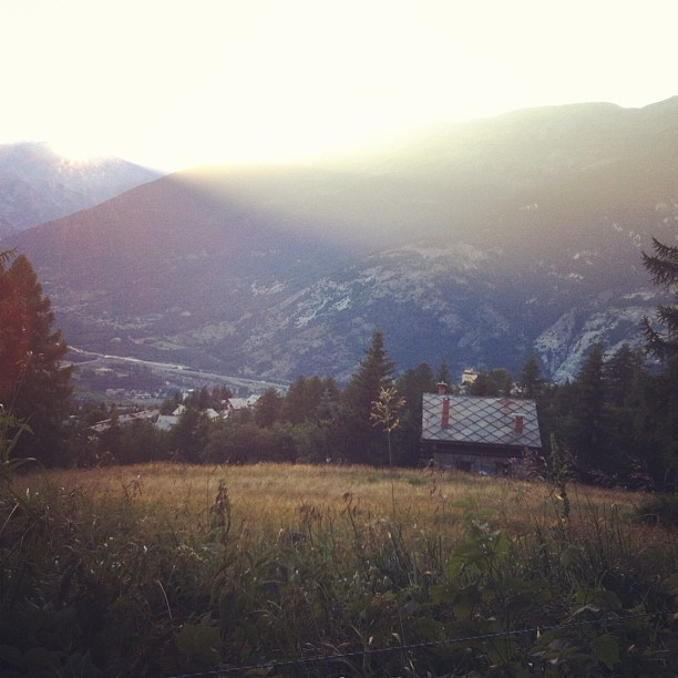 Sunset over #sauzedoulx  and the alta valle Susa