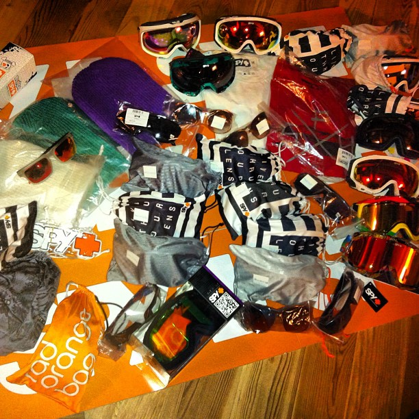 Spy Optic have as usual been generous,all this will go to the freeskicamp campers .www.freeskicamp.it