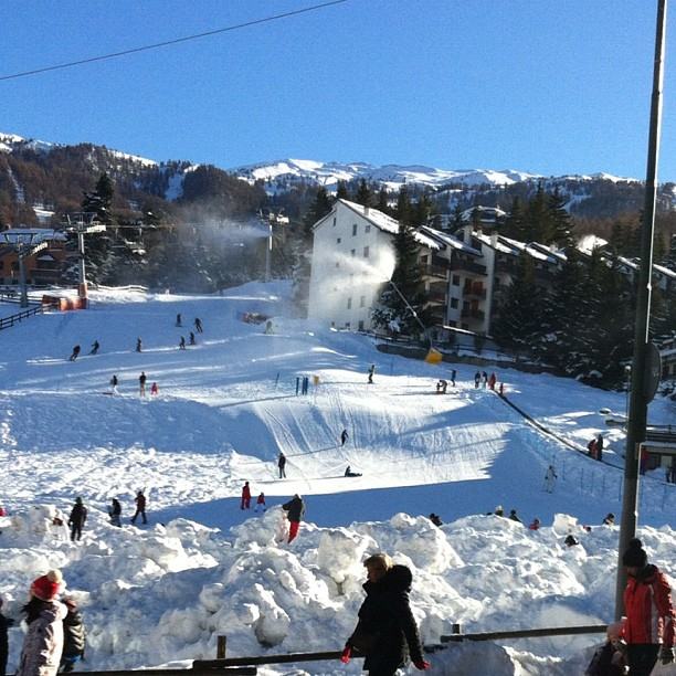 Fantastic start to the season,cold,sun,snow, view from #eydallinsport #hotelstellalpina #sauzedoulx