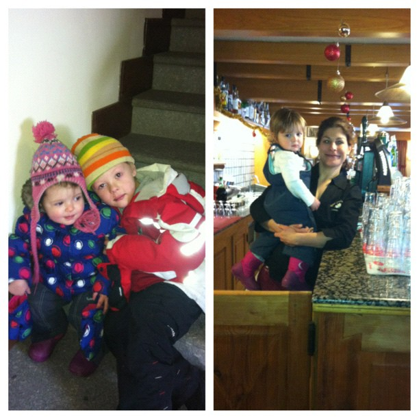 My 2 youngest guests & Christel has found a new job#hotelstellalpina #sauzedoulx