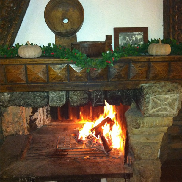 Nothing better than a open log fire after a very cold day on the slopes