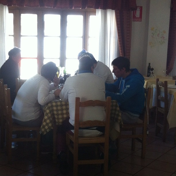 Staff lunchtime at #hotelstellalpina #sauzedoulx