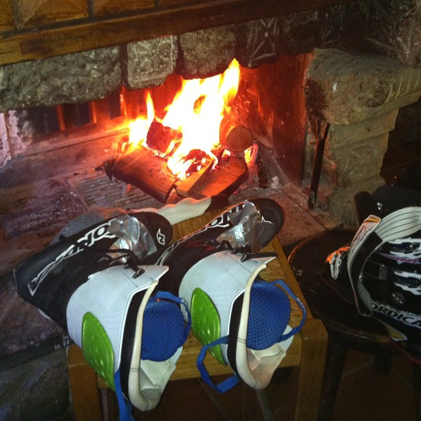 Best way to heat up cold ski boots!!