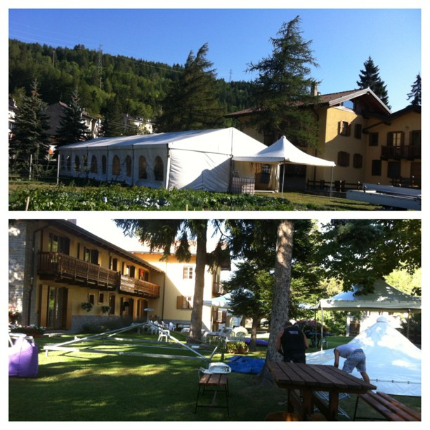 We're in full wedding mode at the #cascinagenzianella