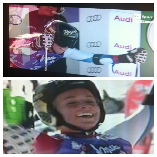 Can't bare to watch.....1st winner in world cup Solden.Fantastic Lara Gut!!!