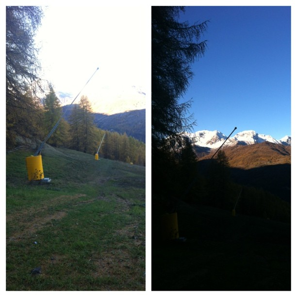 Snow cannons ready.... A beautiful autumn morning in #sauzedoulx #hotelstellalpina