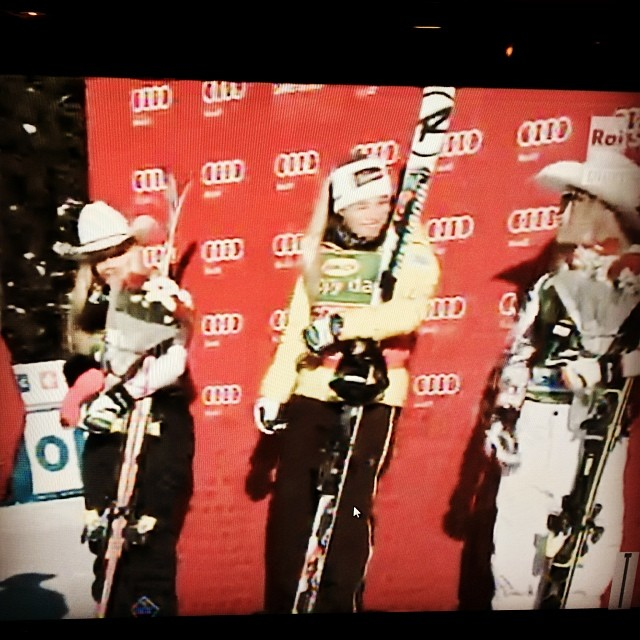 Oops she did it again.....!!!!Another incredible win for#laragut superg in Lake Louise.