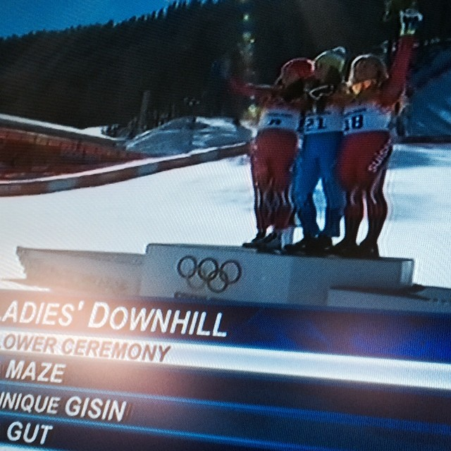 Fantastic bronze medal for Lara in the womens olympic downhill