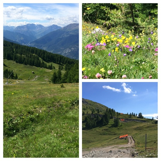Beautiful walk up the Bourget piste, new runs and new lift preparations for next season #skisauze