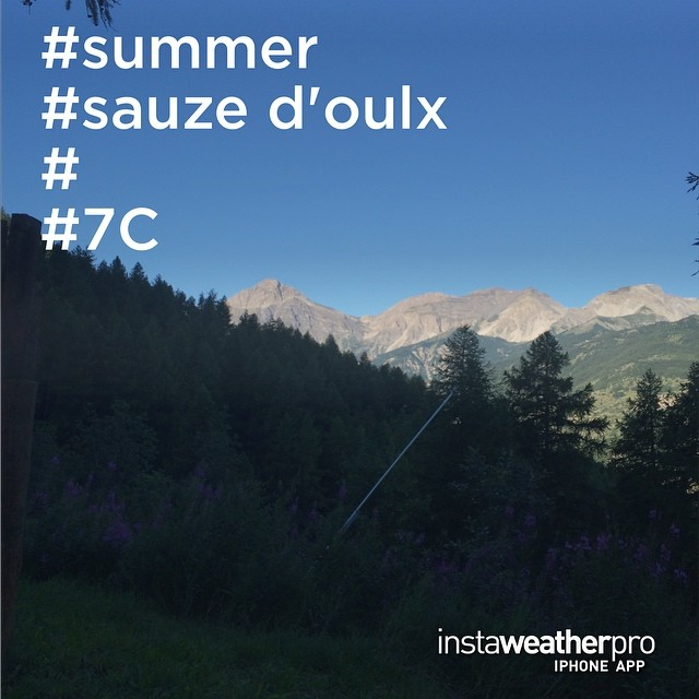 summer ? Beautiful day but it could be a tad warmer !!!!! #sauzedoulx #skisauze #summertime
