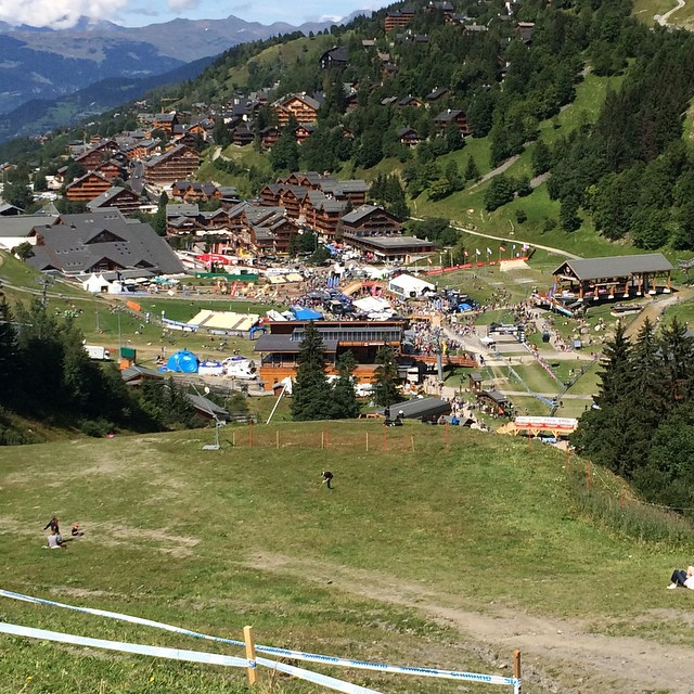 Great day out at Meribel for the world cup MTB finals with the Andrea Tiberi fan club