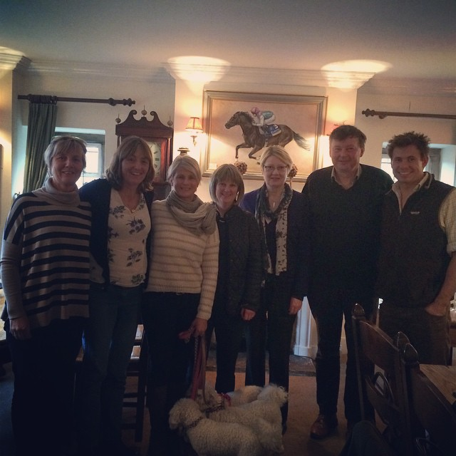 Lovely lunch with our country cousins Stowe on the Wold !!