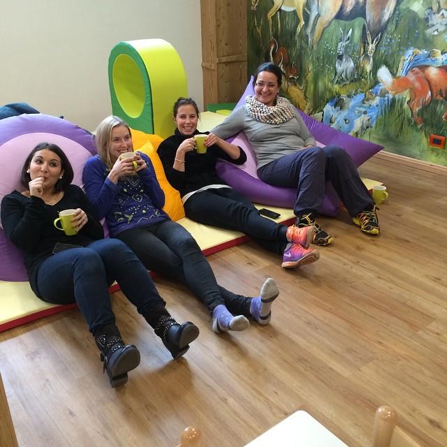 The staff !!! #eydallinsport #hotelstellaalpina #babyparkinglalibellula working hard!!!!!