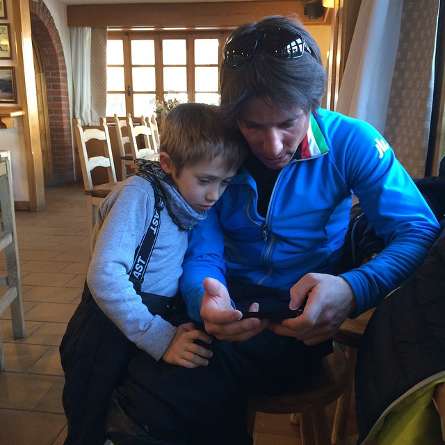 Apres ski for Simone and little friend ! !!