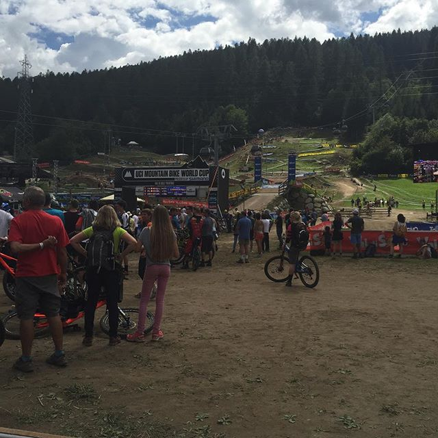 #valdisole#mtb world cup finals downhill today, cross country tomorrow#iotifotibi