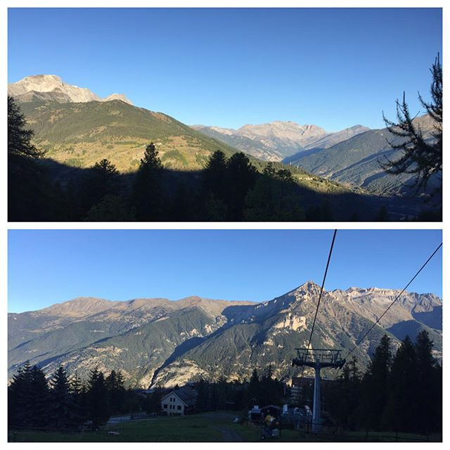 Well...these are 2 early morning views that I can live with #hotelstellalpina #sauzedoulx #altavallesusa