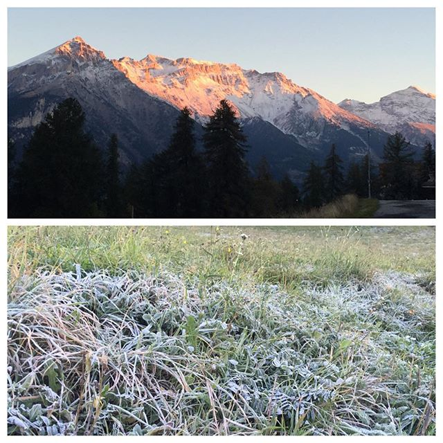 Cold and frosty morning in #sauzedoulx #hotelstellalpina
