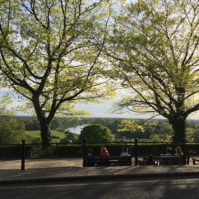One of the best places to be in London! Richmond hill early evening!!